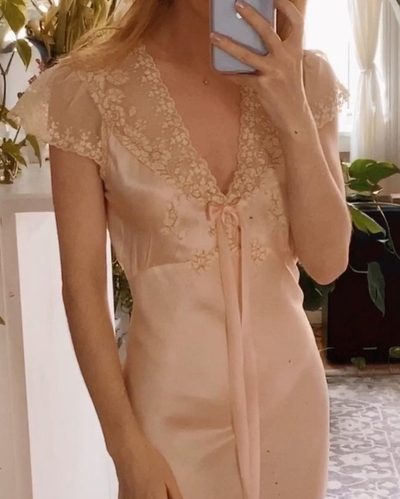 1930's Vintage Silk Nightgown Slip Dress - So uniq