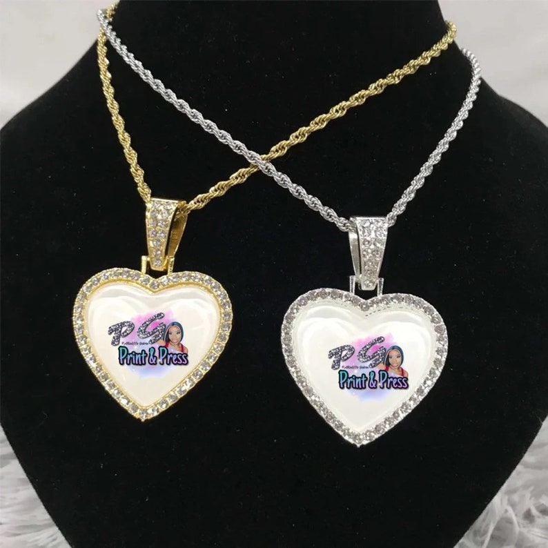 Sublimation BLANK heart necklace