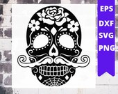 Sugar Skull SVG collection,Candy Skull Svg Dxf, Sugar Skull Black White,Day of Dead,Skull outline Instant Download cameo Files svg png dxf