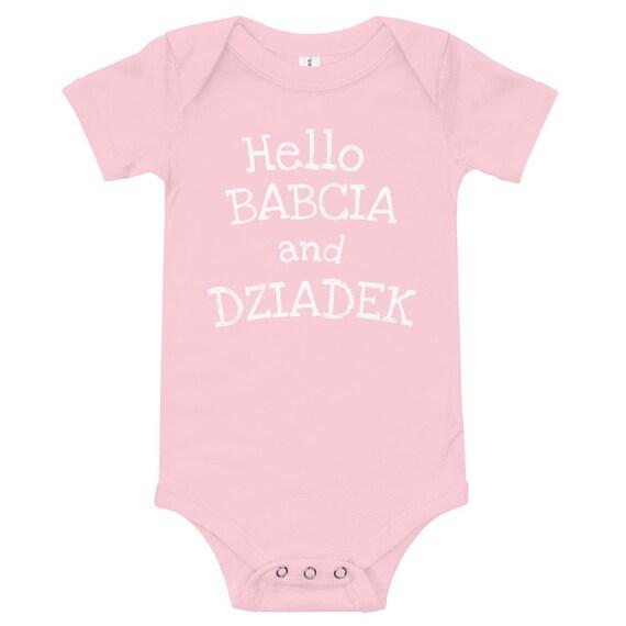 Polish Grandfather Pregnancy Announcement Body Gift Gratulacje dla Dziadka Surprise Zostaniesz Dziadkiem Niespodzianka Bodysuit
