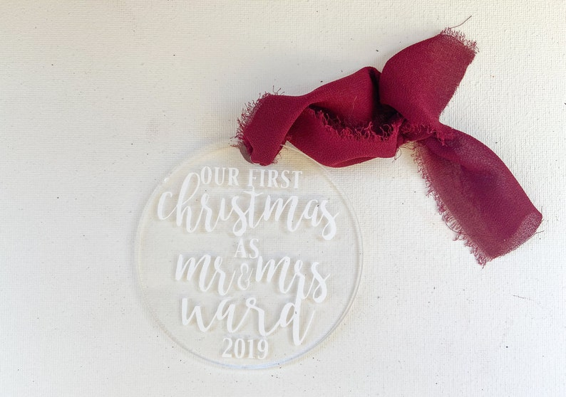 Our First Christmas as Mr. and Mrs.  Wedding Ornament  image 0
