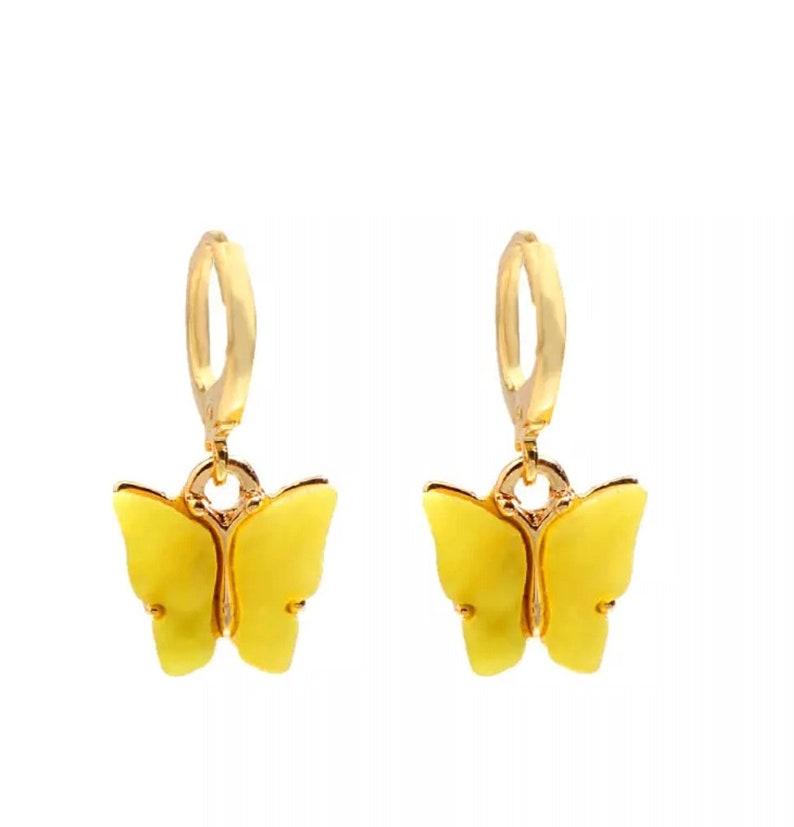 New Fashion Women Butterfly Drop Earrings Animal Sweet Colorful Acrylic Earrings 2020 Statement Girls Party Jewelry.