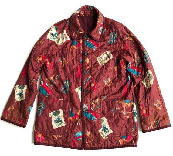 Vintage Burberry Silk Reversible Quilted Jacket