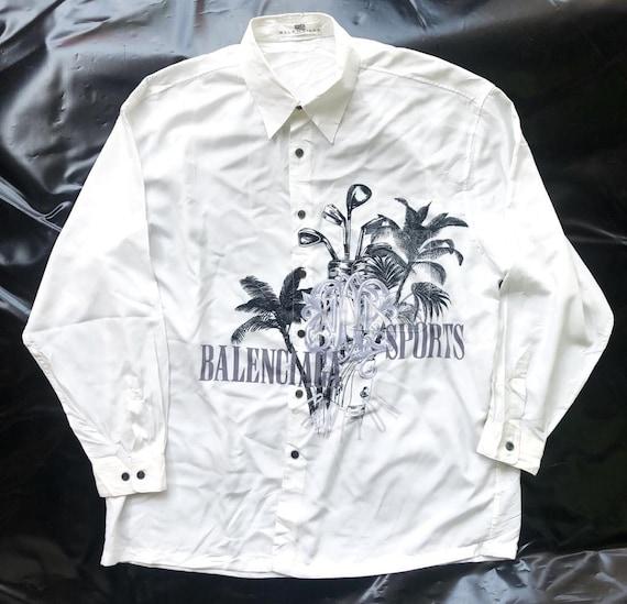 Vintage Balenciaga Big Logo Button Shirt