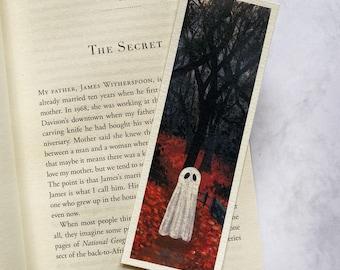 Ghost Bookmark Print | Book Accessories | Birthday Gift | Halloween Bookmark | Original Acrylic Painting
