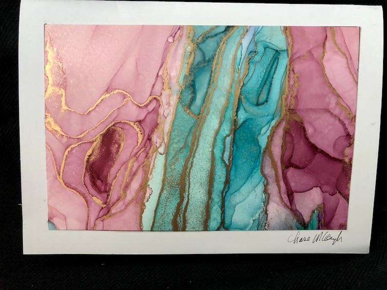 Original artwork birthday card Blank inside wedding Mother\u2019s Day Anniversary Set of 2.
