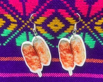 Elote, Elote earrings, Mexican earrings, mexican corn, mexican sweetcorn, funny earrings, kawaii earrings, cinco de mayo earrings, Mexican