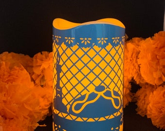 Day of the dead candle, day of the dead decor, day of the dead altar candle, día de muertos, day of the dead, day of the dead altar