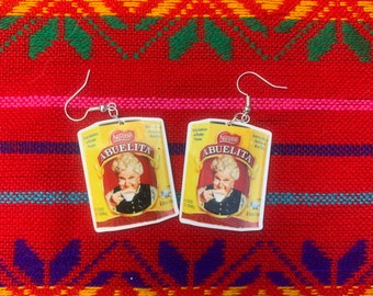 Mexican earrings, chocolate abuelita, latinx, funny earrings, snack lover earrings, traditional mexican, mexican gift, mexican jewelry