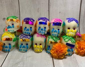 Sugar Skull, SECONDS, Calavera de Azucar, Day of the Dead, Dia de los Muertos, Día De Muertos, papel picado, Mexican decor, Altar, ofrenda