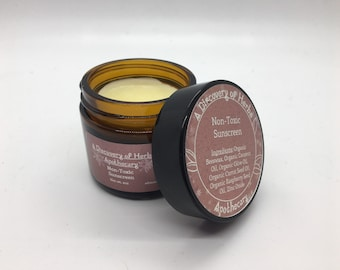 Organic Non-Toxic Sunscreen | Organic Sunscreen | Non-Toxic Sunscreen | Natural Sunscreen | All-Natural Sunscreen | 100% Organic Ingredients
