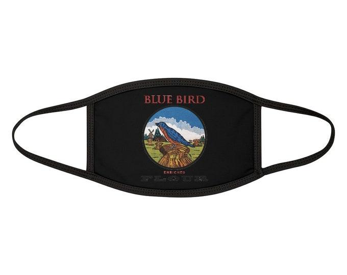 Blue Bird Mixed-Fabric Face Mask