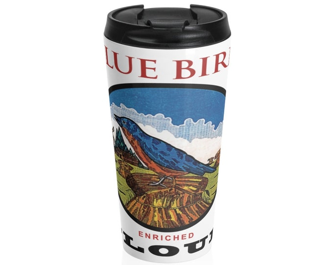 Blue Bird Stainless Steel Travel Mug