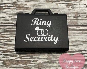 Black Ring Security Box Ring Security ID Badge Set Sunglasses Security Briefcase Ring Bearer Briefcase Ring Security Box Ring Bearer Set
