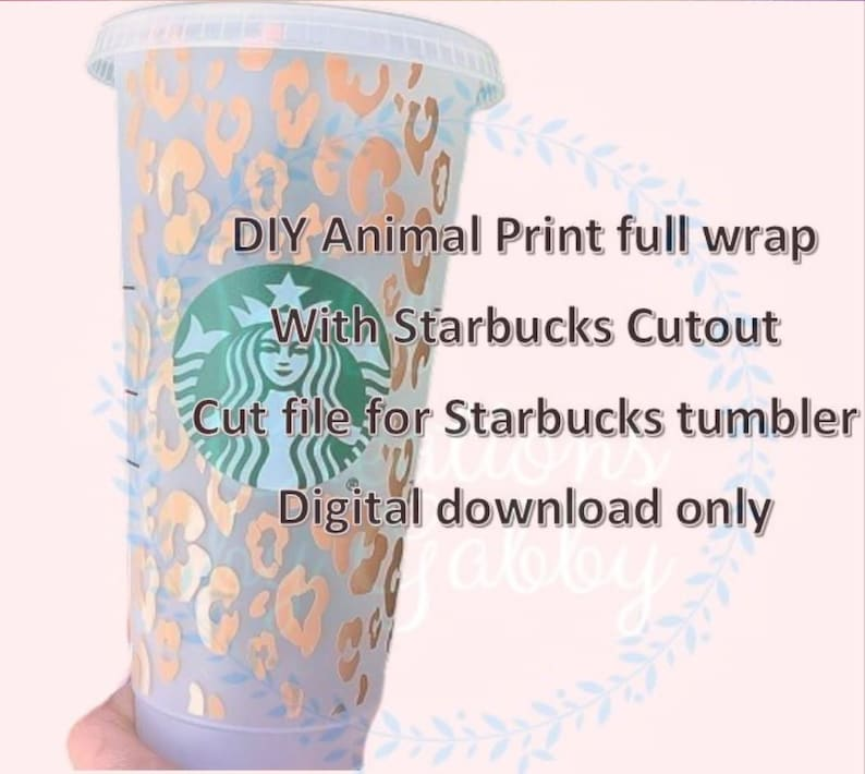 Full Wrap Animal Print For Starbucks Venti Size Svg File With Etsy