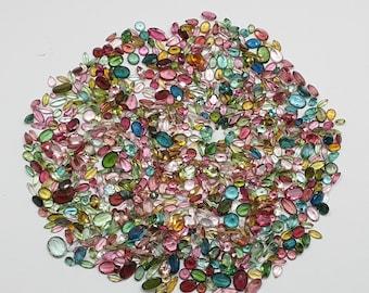 7x5 MM Natural Tourmaline Gemstone Tourmaline Faceted Octagon Shape Multi Tourmaline For Jewelry Setting Loose Gemstone
