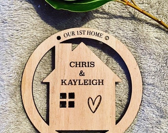 First Home Wall Plaque    Housewarming Gift I Couples Gift