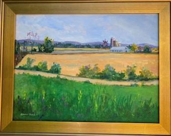 Original Oil Painting-Lebanon County Farmland. 18x24 inches, Oil on Canvas. Framed or Unframed. Giclée Print Available.
