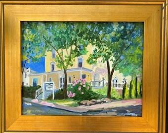 Maine Oil Painting- Castine Inn. 11x14 Oil on Linen Panel. Framed or Unframed. Giclée Print Available.
