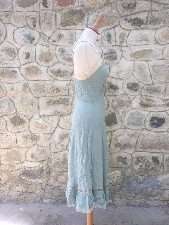 90s slip dress in pastel green - image 2