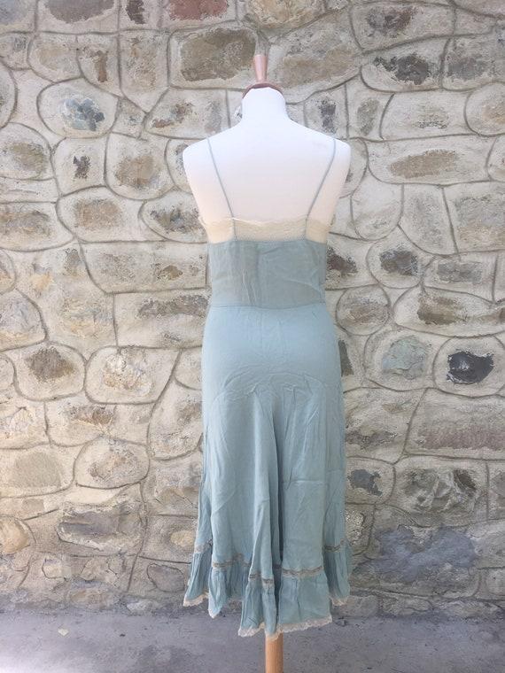 90s slip dress in pastel green - image 3