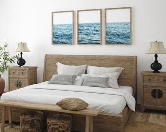 Set of 3 Seascape Prints - FREE UK Delivery | Modern Home decor | Fast shipping |