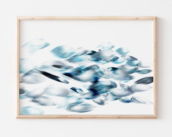 Fish Art - Abstract Art Print in 2 sizes , FREE UK Delivery, Fast Shipping
