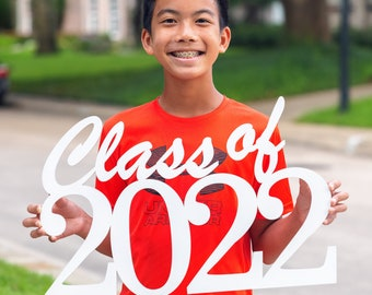 Class of 2022 (any year) - Wood Cutout Sign - Laser -  Photo Booth Prop - Wooden Decor