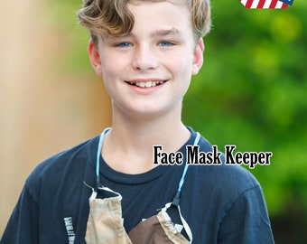 """Kid's safety face mask lanyard with break-away connector keep mask ready when not in use. 18"""" premium cord.  Great for Back to School."""