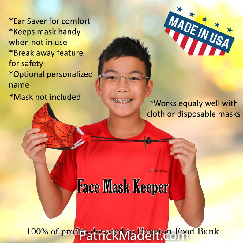 Face Mask Keeper a ear saver with lanyard to keep your mask image 0