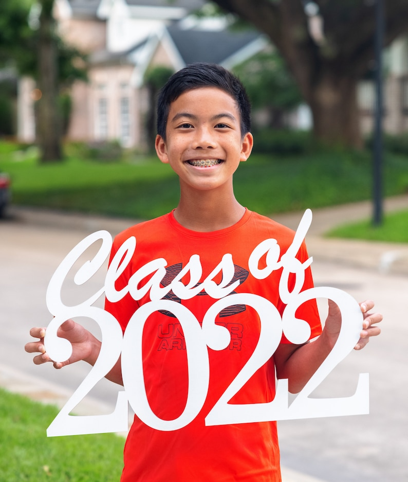 Class of 2022 any year  Wood Cutout Sign  Laser   Photo image 0