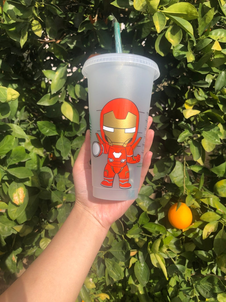 Color Changing Cup IronMan Starbucks