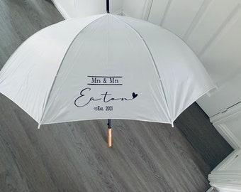 Personalised Wedding Umbrellas