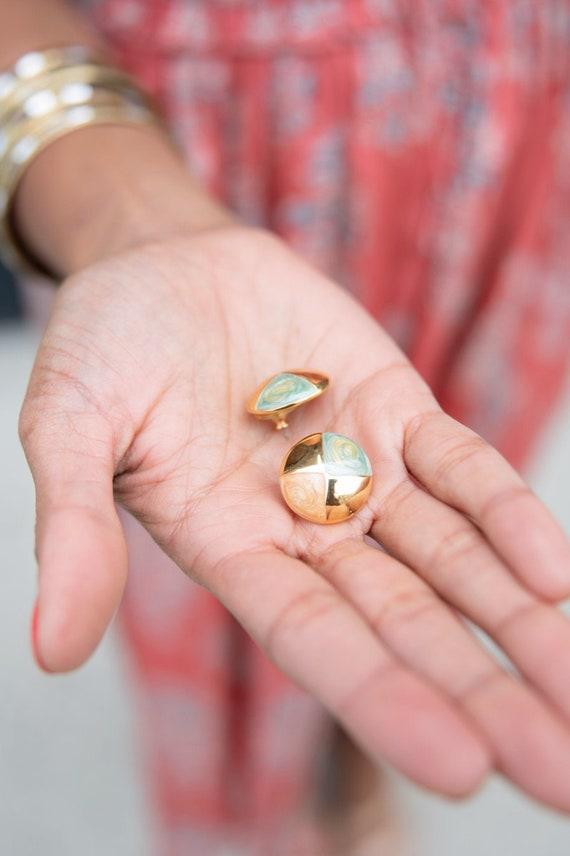 Vintage Gold Stud Earrings