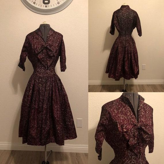 1950's Silk Taffeta Dress