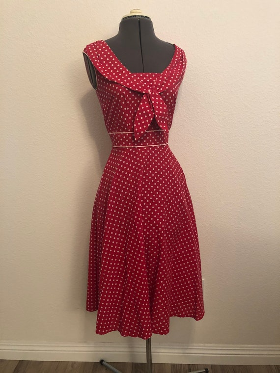 Polka Dot Swing Dress - image 5
