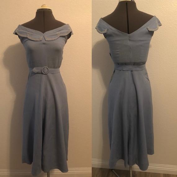 1950's Linen Dress