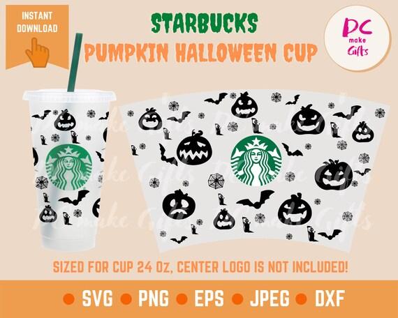 Pumpkin Halloween Starbucks Wrap Svg Cold Cup Svg Dyi Venti Etsy
