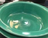 Fiestaware Vintage Medium Bowl (2) Fiesta Green 19 ounce