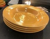 VINTAGE FIESTAWARE Original Yellow Rim Soup Bowl Older quot Genuine 39 Mark Homer Laughlin