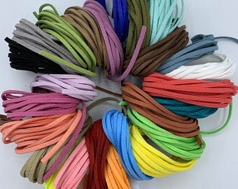 Faux Suede Cord Suede String Boho Cord Pack of 5 Plaiting String Bohemian Cord Suede Ties Friendship Bracelet Cord Suede Rope