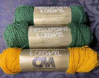 Columbia- Minerva ~ Needlepoint & Crewel Yarn ~ 100%Virgin Wool