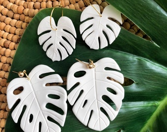White Monstera Leaves (big & small)