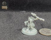 "Qunk ""The Shaman"":  a Dnd 3d Printed Resin3w Miniature"