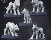 Hellhounds Cast N Play:  a Dnd 3d Printed Resin Miniature