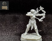 Forest Elf (Pose A):  a Dnd 3d Printed Resin Miniature