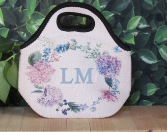 Personalized Lunch Tote, Customized Lunch Bag, Reusuable Lunch Bag, Thermal Lunchbox, Gourmet Lunch, Lunchbox, Linen lunch box
