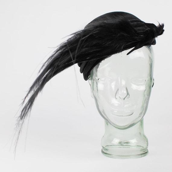 Glamorous Velvet & Feather Hat