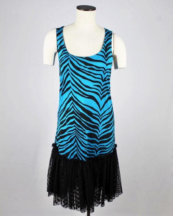 1980's Zebra Print Dress