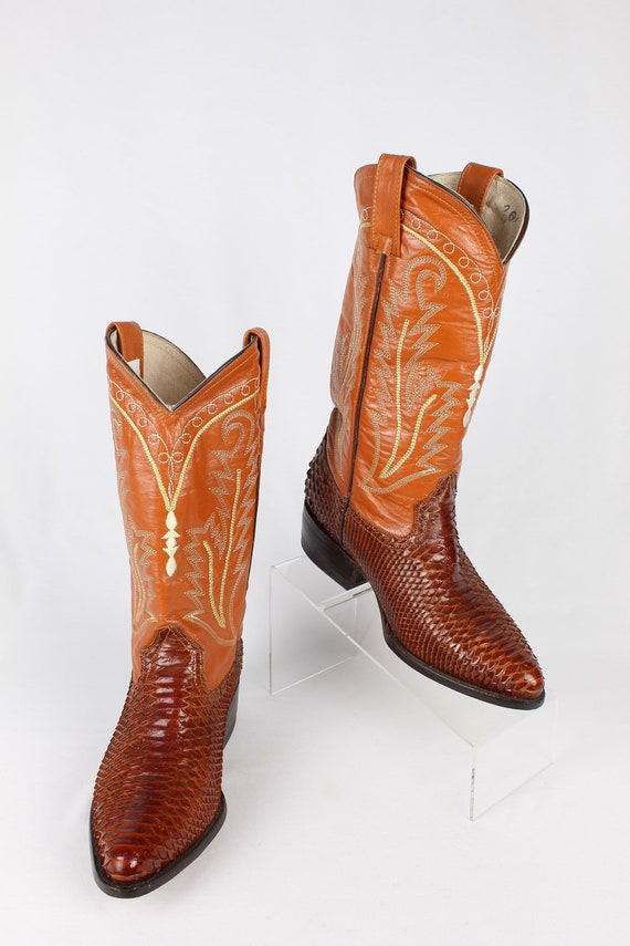 Real Snakeskin Cowboy Boots